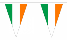 Ireland Triangular Flag Bunting - 20m Long - 54 Flags
